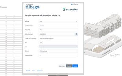 Digitaler Betreibungsauszug: tilbago wird bei emonitor integriert
